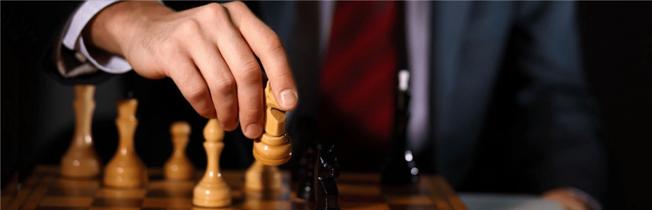 Investment Strategy - moving chess piece